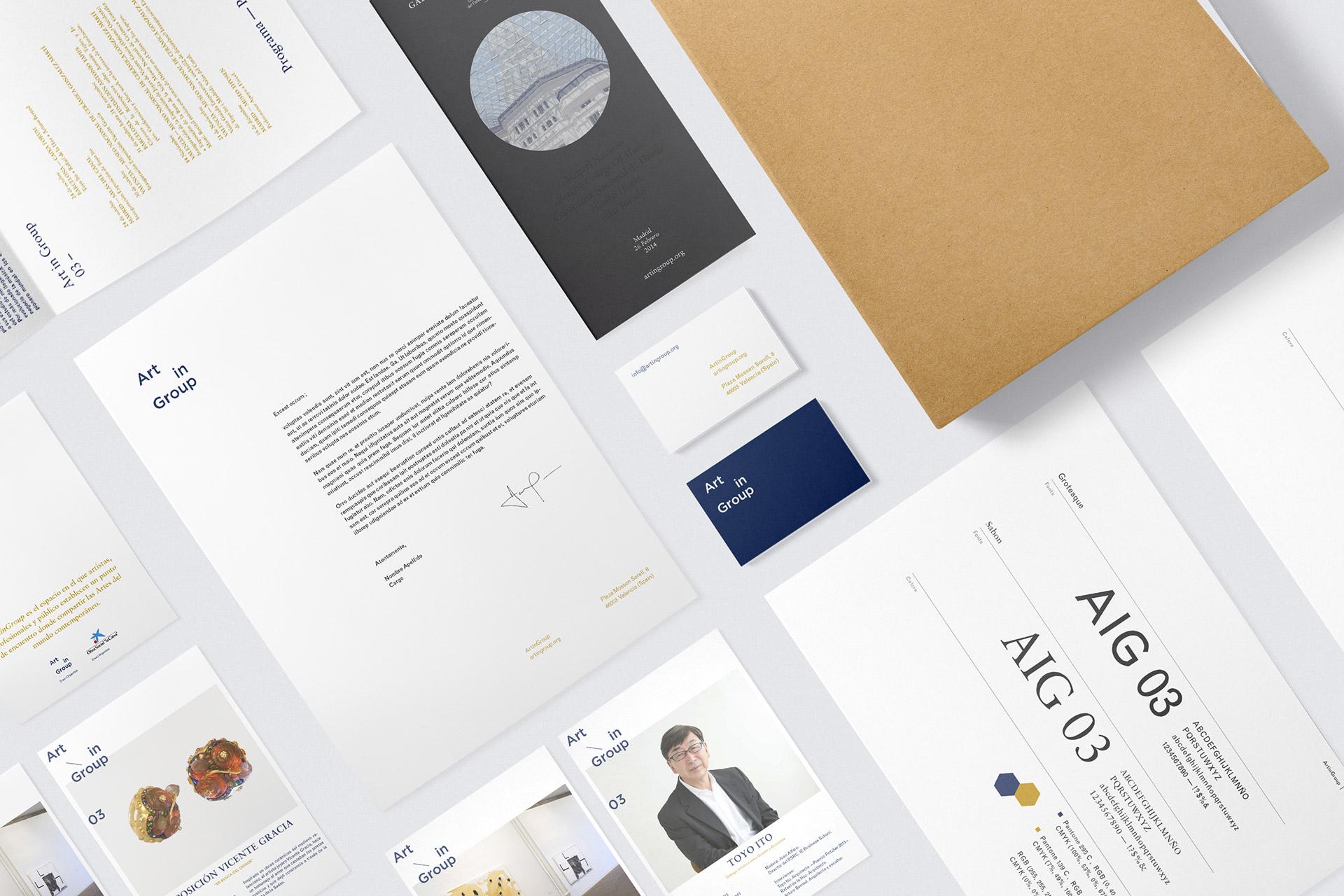 ArtinGroup 03 - Diseño gráfico y identidad visual para un evento cultural y artístico en Madrid, Barcelona y Valencia