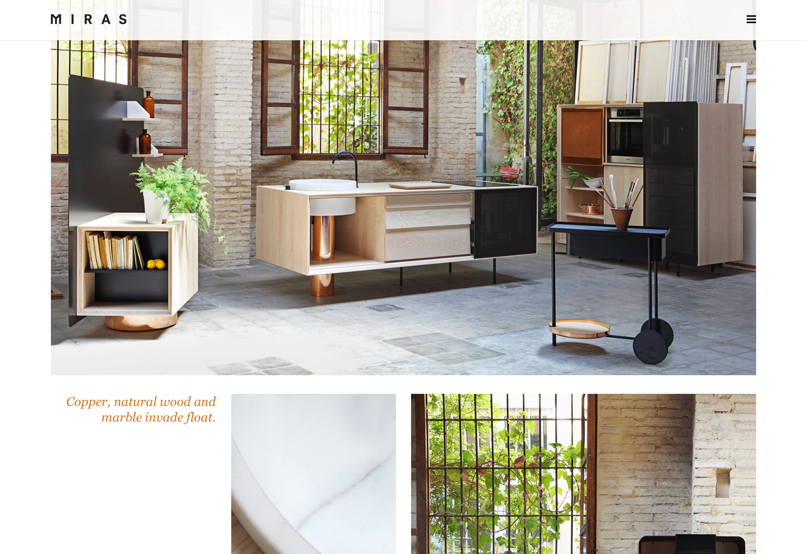 Float - A kitchen designed by Mut Design for Miras Editions