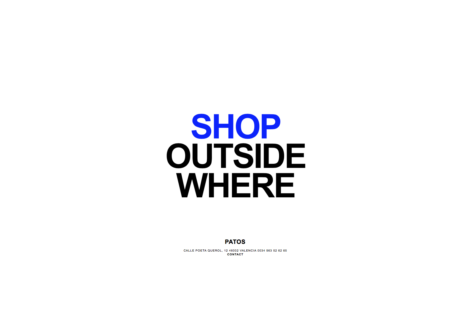 Patos - Diseño y desarrollo web para la tienda de ropa de lujo en Valencia Patos by Lourdes