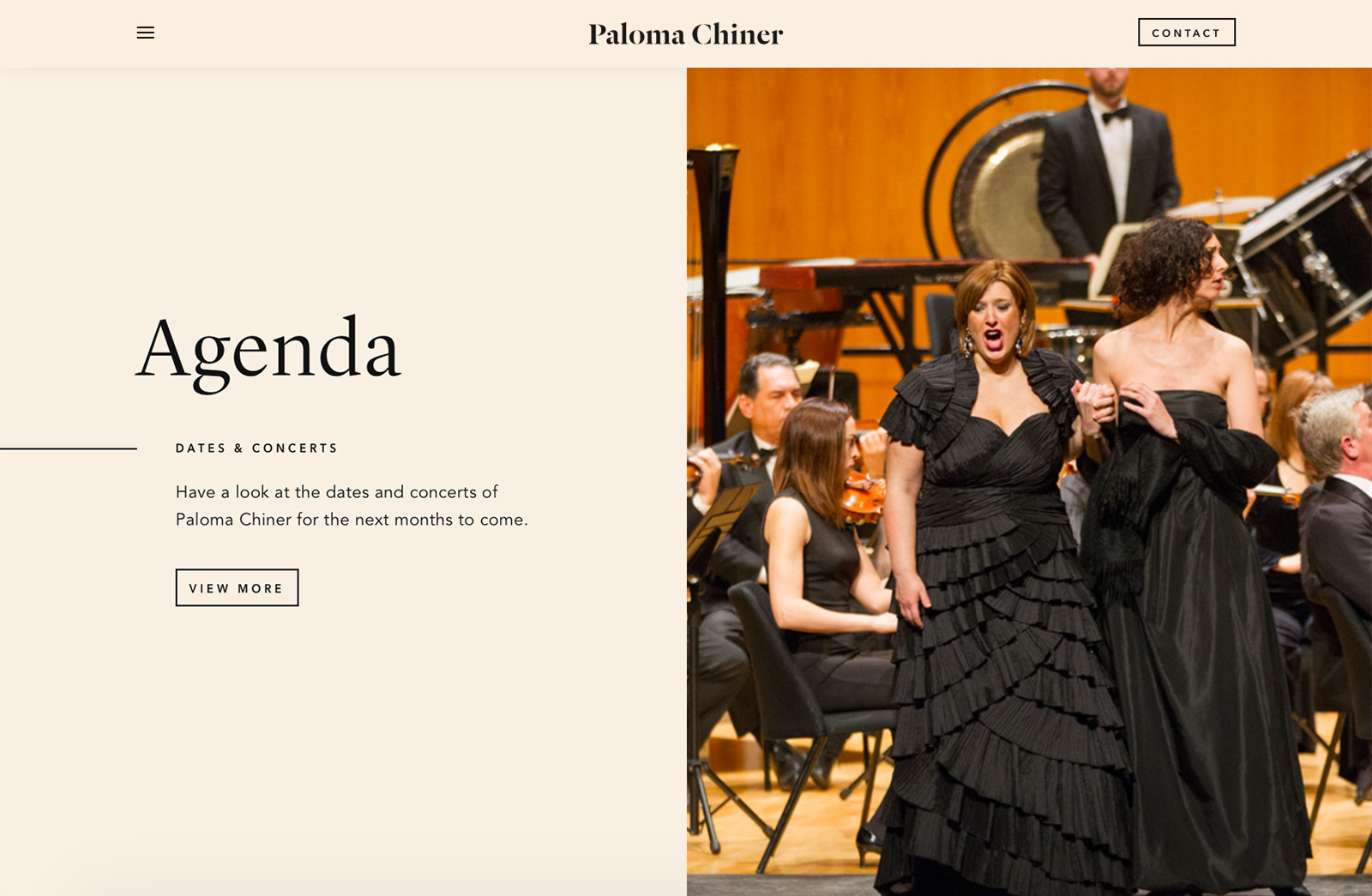 Paloma Chiner Soprano - Design and development of the new website