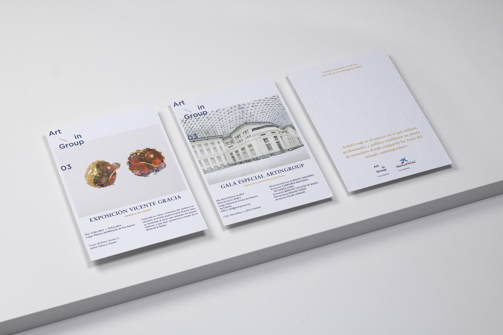 ArtinGroup 03 - Diseño gráfico y identidad visual para un evento cultural y artístico en Madrid, Barcelona y Valencia width=