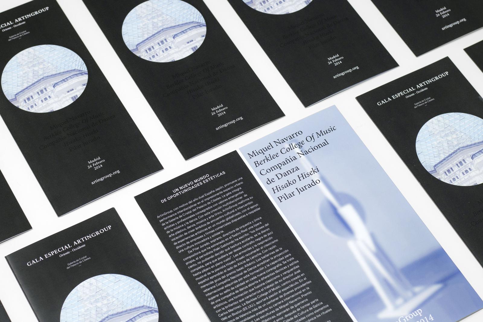 ArtinGroup 02 - Diseño gráfico y identidad visual para un evento cultural y artístico en Madrid, Barcelona y Valencia