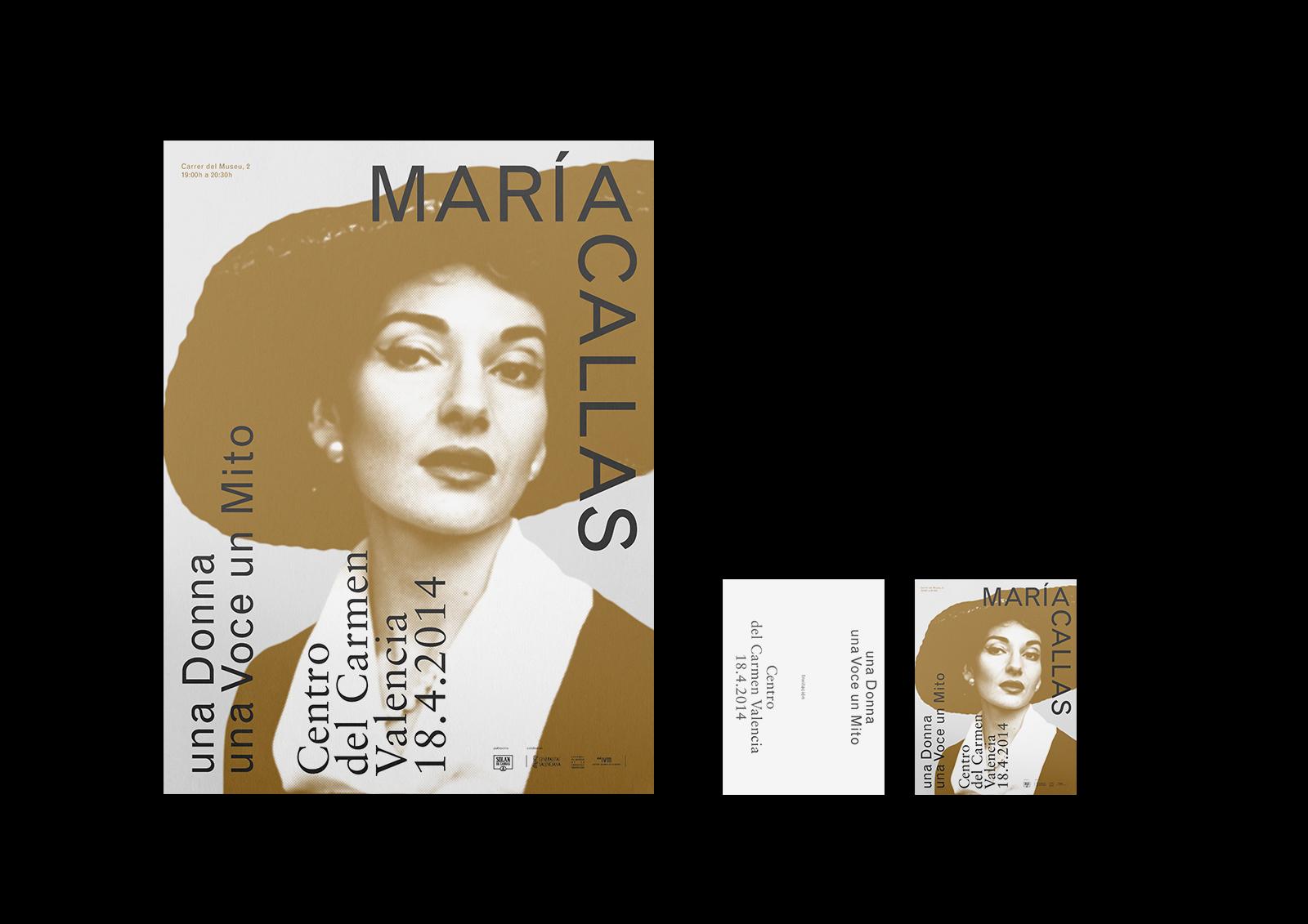 Maria Callas - Diseño gráfico y identidad visual para la exposición monográfica sobre Maria Callas en el Centro del Carmen de Valencia