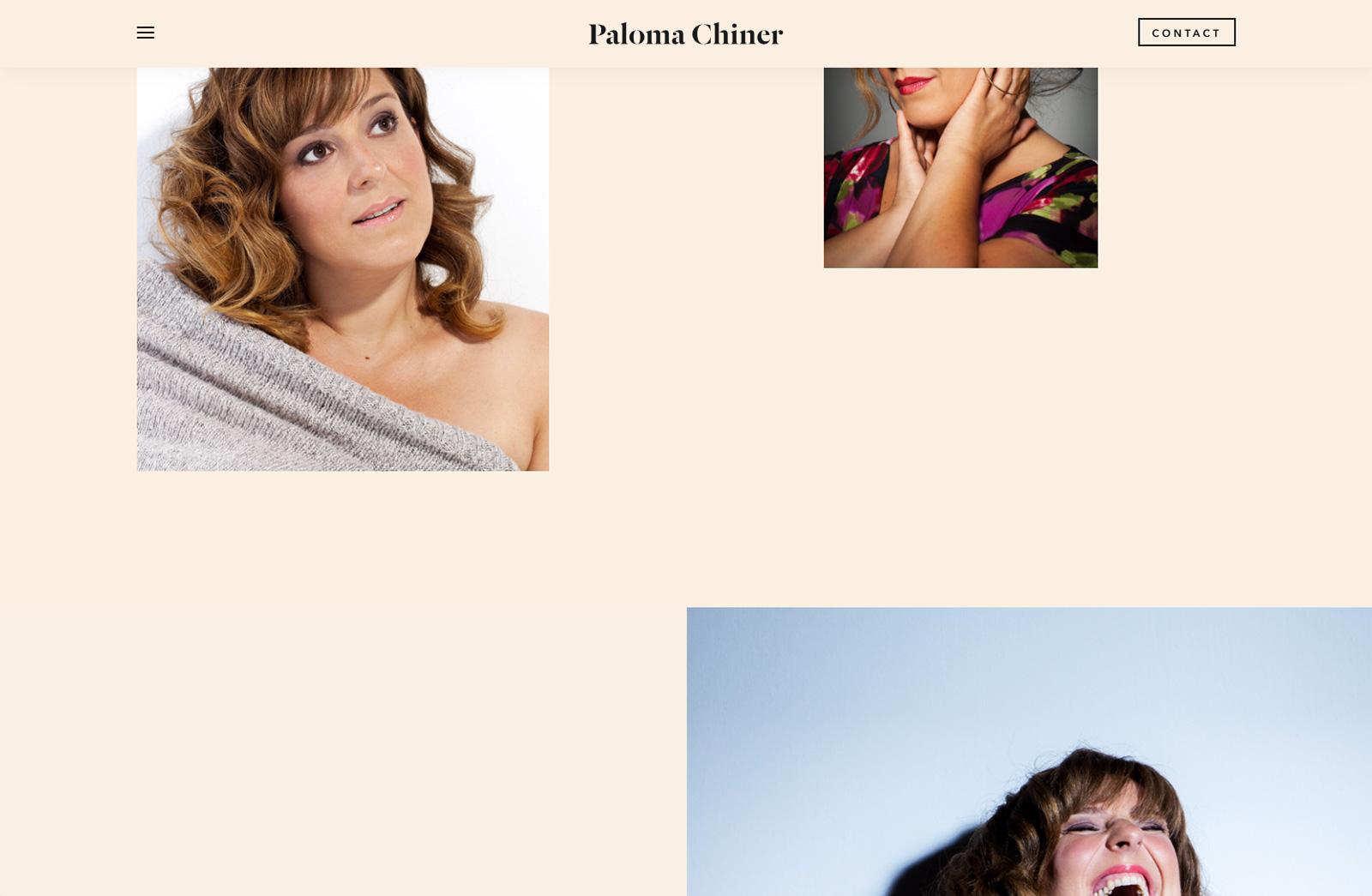 Paloma Chiner - Branding, Diseño y desarrollo web para la soprano Paloma Chiner